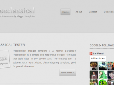 Freeclassical Blogger Template